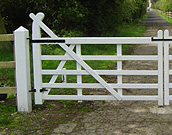 Vintage style 5 farm gate  painted white