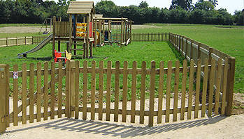 Palisade / picket style fencing