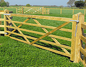 Plain wood farm gate