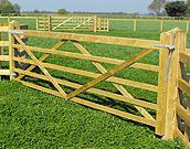 Plain wood farm gate